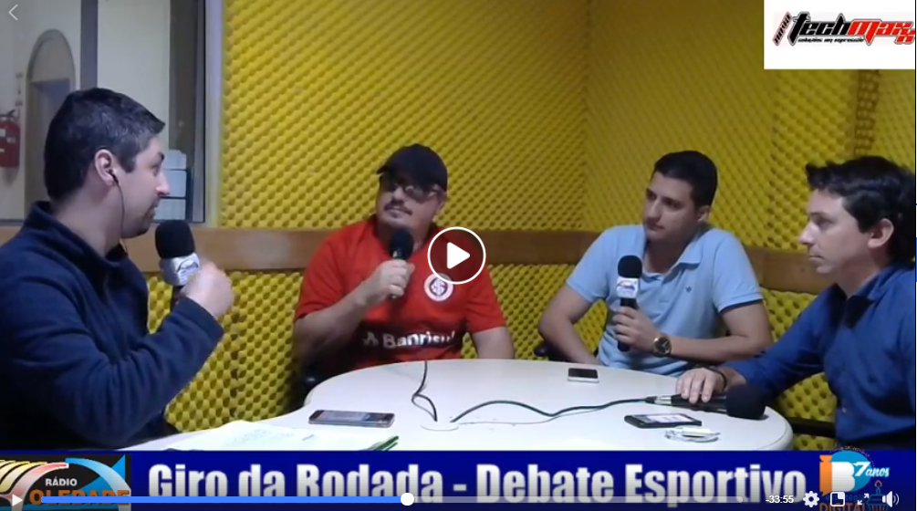 GIRO DA RODADA – DEBATE ESPORTIVO – 01/10/18