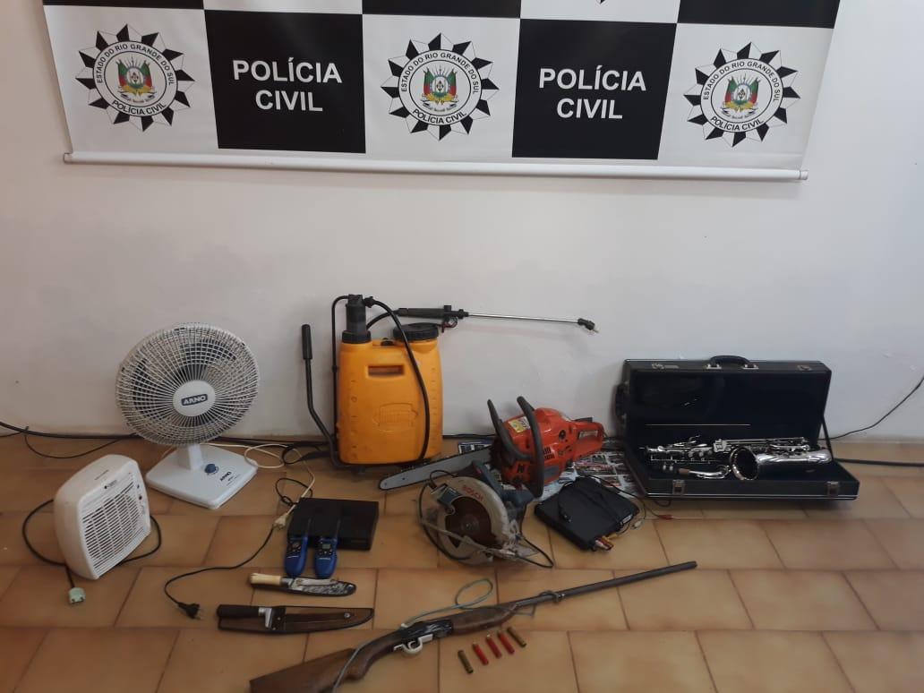 Polícia Civil e Brigada Militar realizam operação de combate ao tráfico de drogas e furtos em São José do Herval