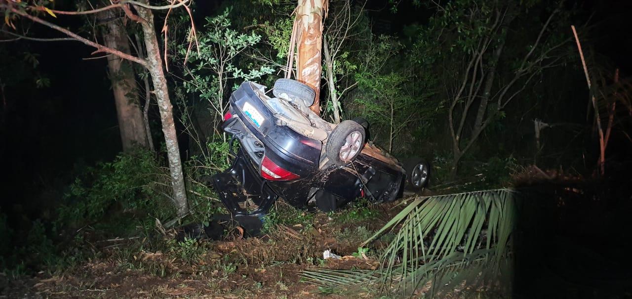Condutor sofre lesões leves após saída de pista na BR 386 em Tio Hugo