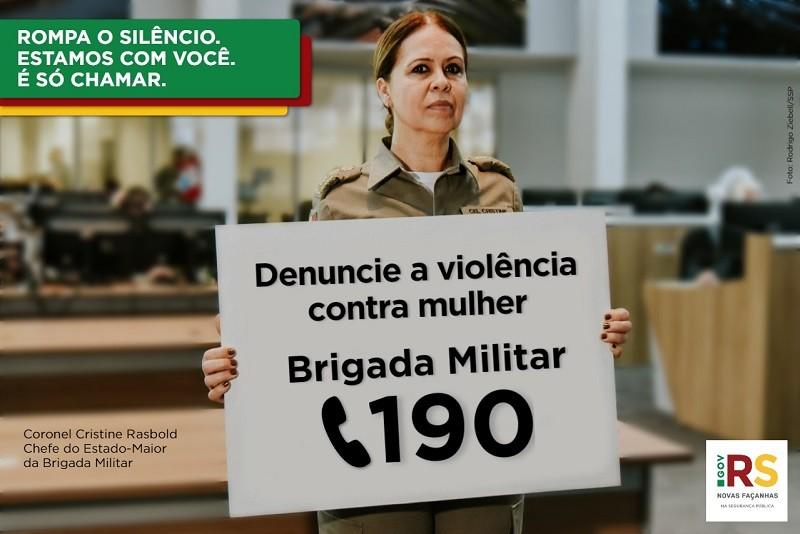 Secretaria da Segurança Pública lança campanha para incentivar denúncias de violência contra a mulher