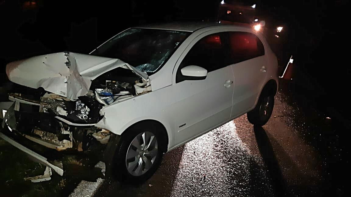 Duas pessoas ficam feridas em acidente na BR 386 em Tio Hugo