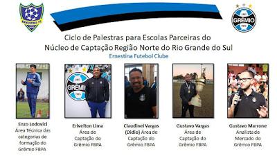 Ernestina e Grêmio promovem palestras para Escolas Parceiras