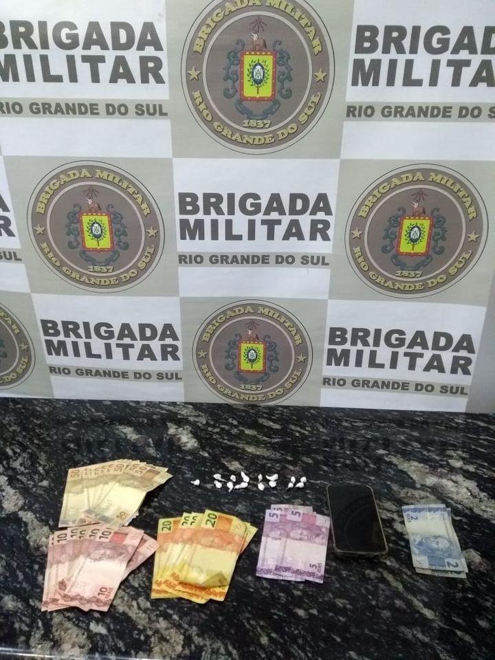 Patrulha Rural de Soledade prende traficante de drogas no interior de Fontoura Xavier