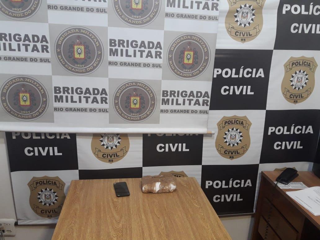 Adolescente infrator é apreendido com 990 gramas de cocaína em Soledade