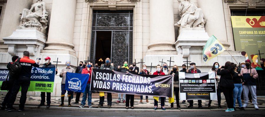 Justiça defere em parte liminar do CPERS e rede estadual deve suspender aulas presenciais