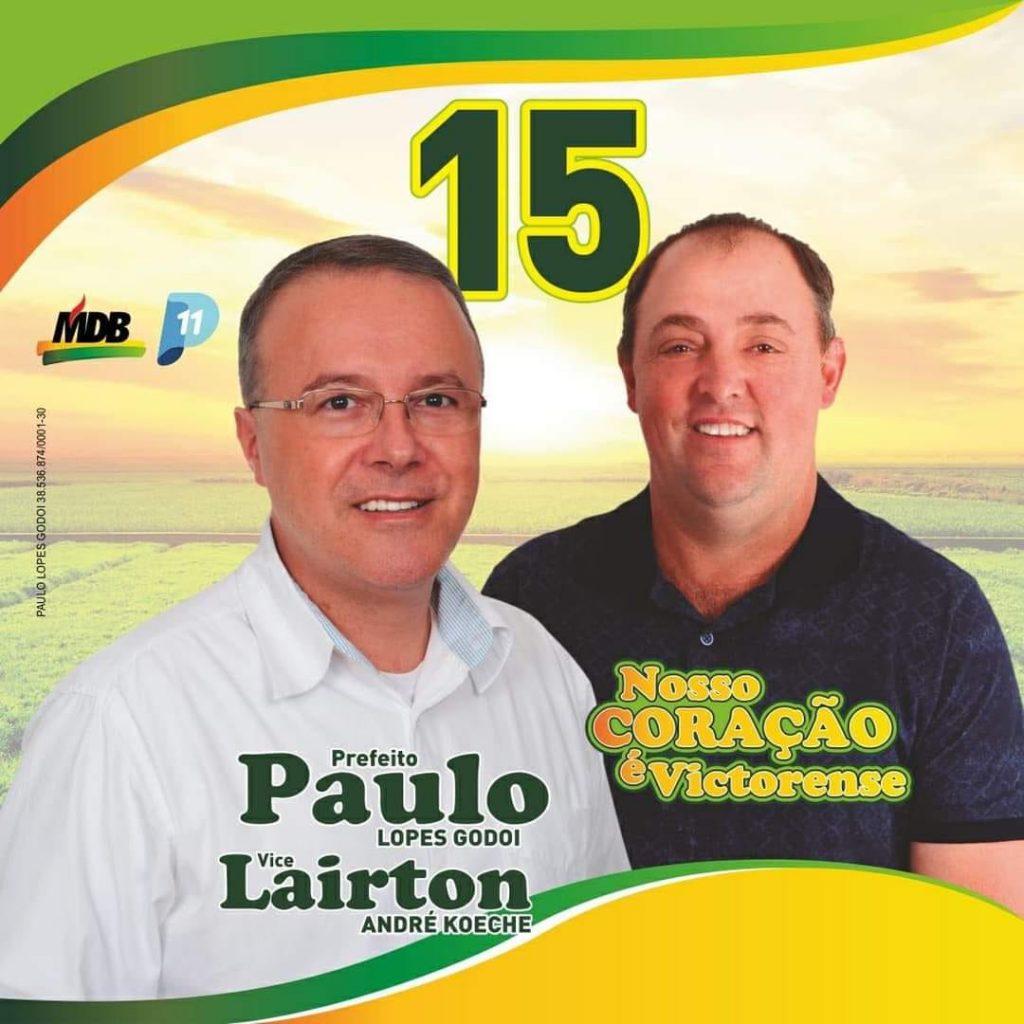 Paulo Lopes Godoi, do MDB, é eleito prefeito de Victor Graeff