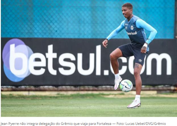 Escalação do Grêmio: Vanderlei, Kannemann, Jean Pyerre e Diego Souza não viajam para Fortaleza