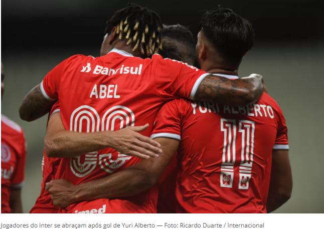 """Recorde de vitórias anima, Inter assume 2º lugar e se permite sonhar com título: """"Só seis pontos"""""""