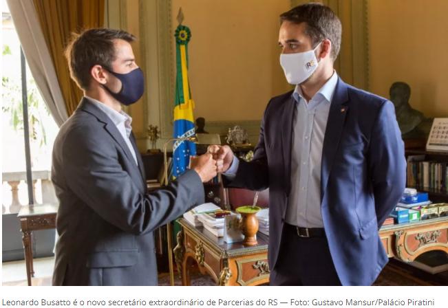 Leonardo Busatto assume como secretário extraordinário de Parcerias do RS