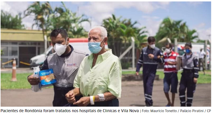 Oito pacientes de Rondônia no RS recebem alta e voltam para casa