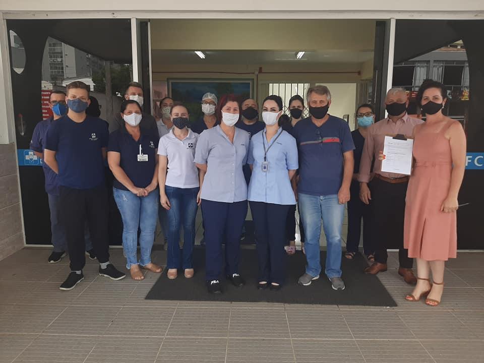 Hospital Frei Clemente recebe valor referente ao troco amigo da farmácia Panvel