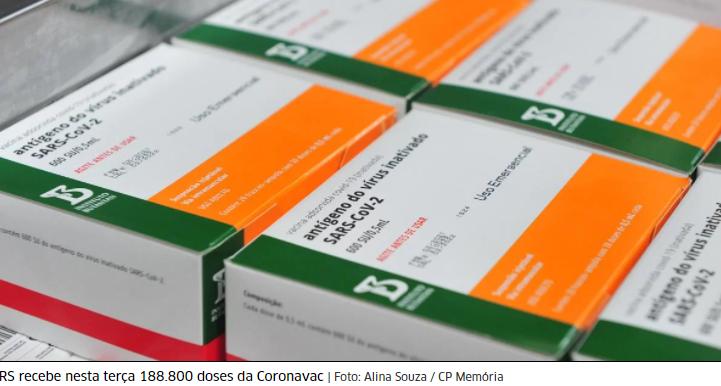 RS confirma chegada de lotes das vacinas Coronavac, AstraZeneca e Pfizer nesta terça