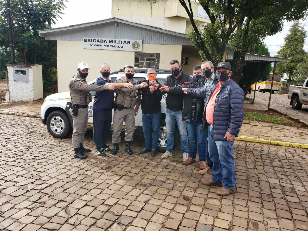 Mormaço recebe viatura da Brigada Militar