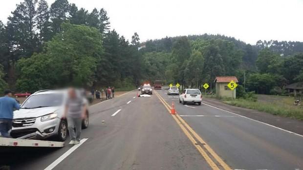 Motociclista morre em acidente na BR-386 em Pouso Novo