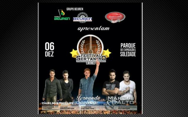 Confirmada a realização do  Festival Sertanejo em Soledade
