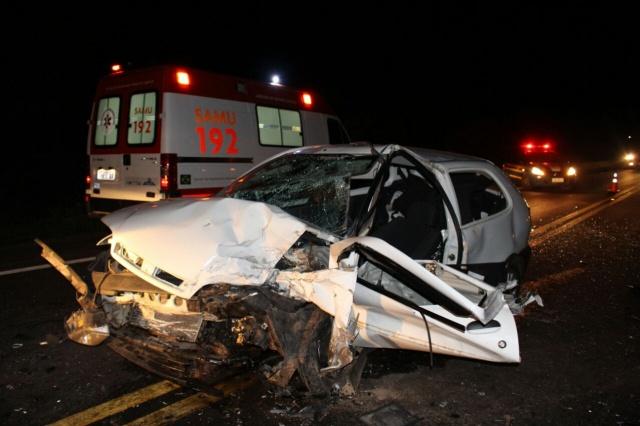 Acidente na BR 386 em Fontoura Xavier deixa homem gravemente ferido