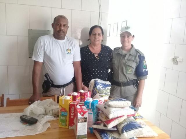 BM de Venâncio Aires realiza entrega de doação de alimentos