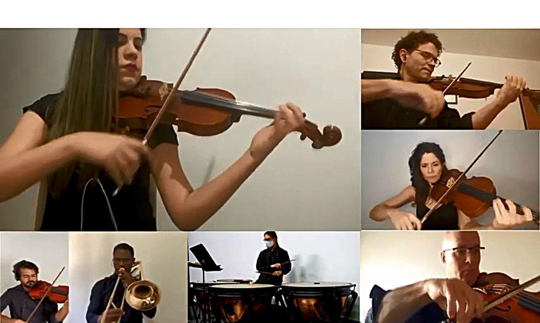Sinfônica de Brasília celebra aniversário do Hino Nacional com vídeo
