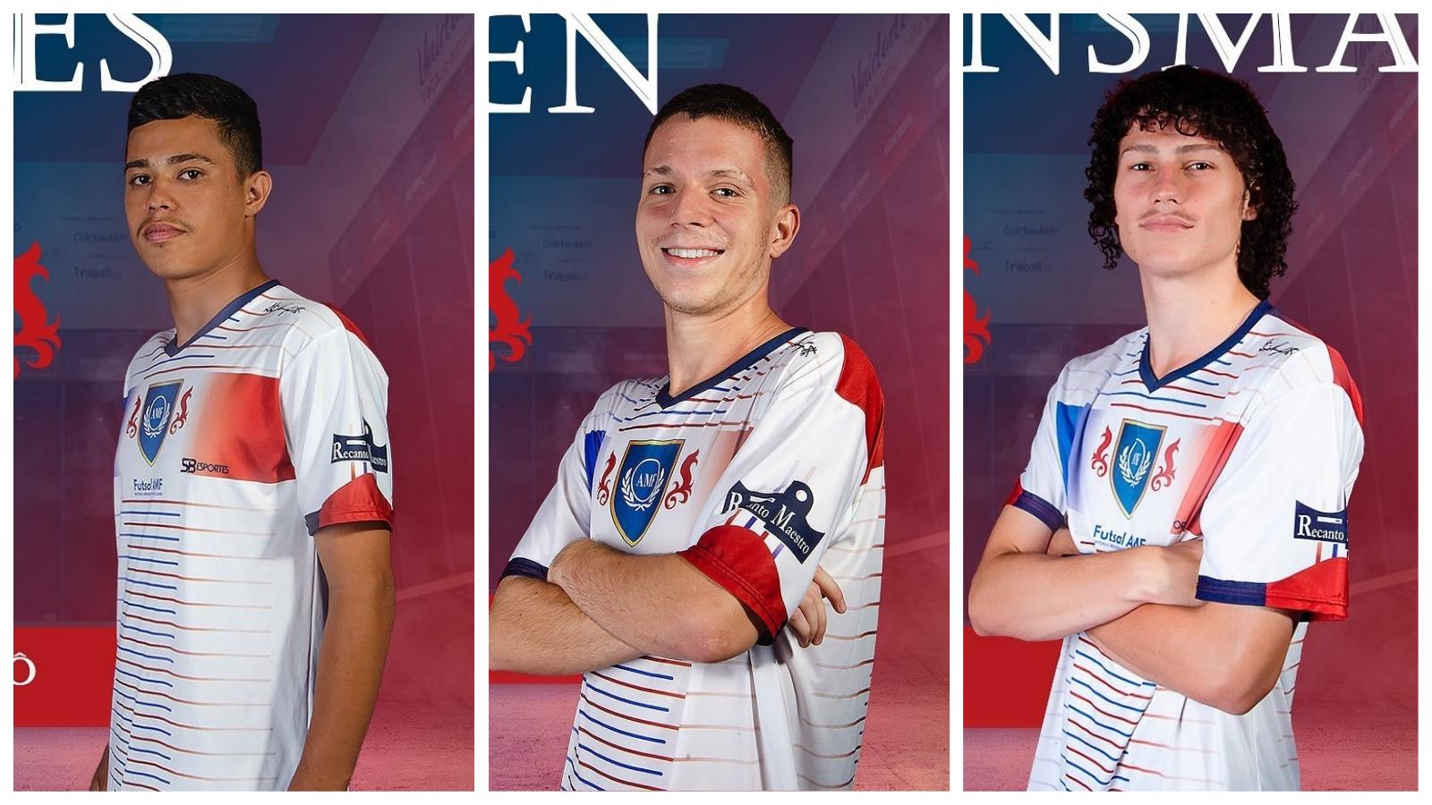 Três atletas da região são selecionados para jogar futsal em clube universitário