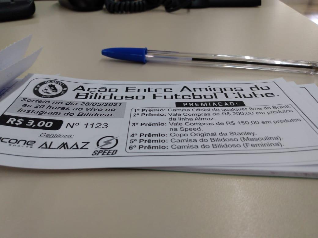 Bilidoso F.C. promove rifa para buscar recursos para disputa da Copa do Brasil de Futebol 7