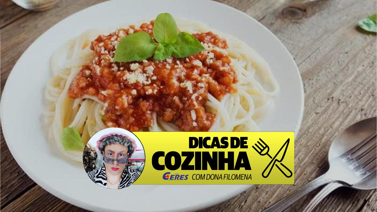 Dicas de Cozinha 28/04: Macarronada ao molho de tomate, bacon e manjericão