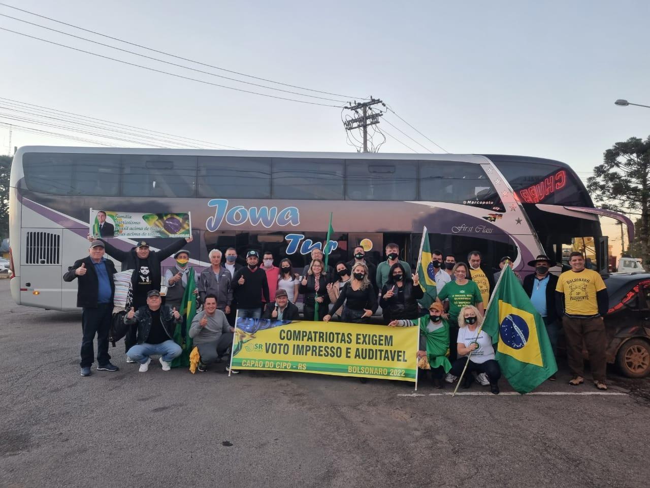 Representantes da região participam de caravana para Brasília no Movimento Brasil Verde e Amarelo