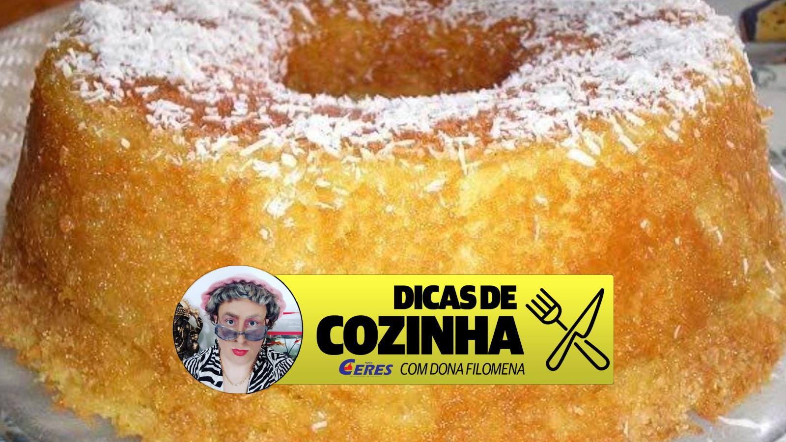 Dicas de Cozinha 11/05: Bolo de Coco