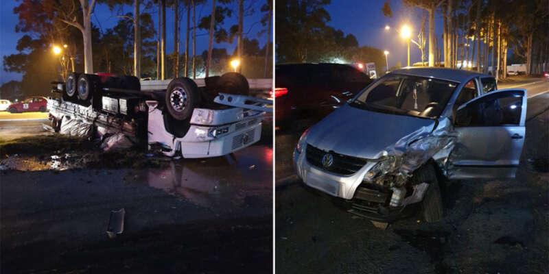Acidente envolve carro e caminhão no perímetro urbano da BR-386 em Soledade