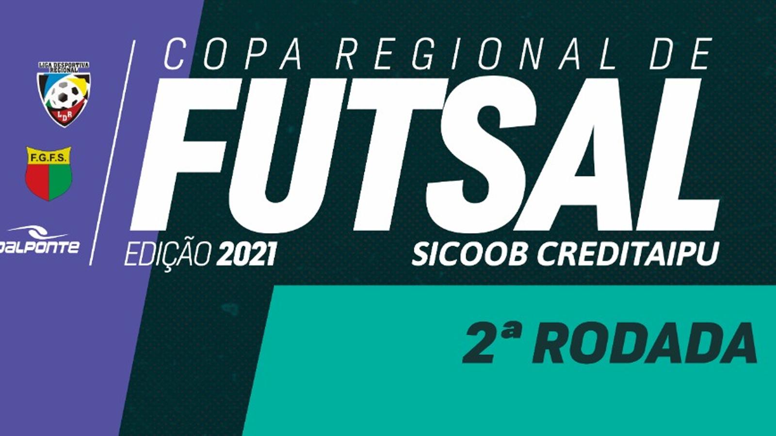 Confira resultados e classificação após a 2ª rodada da Copa Regional de Futsal