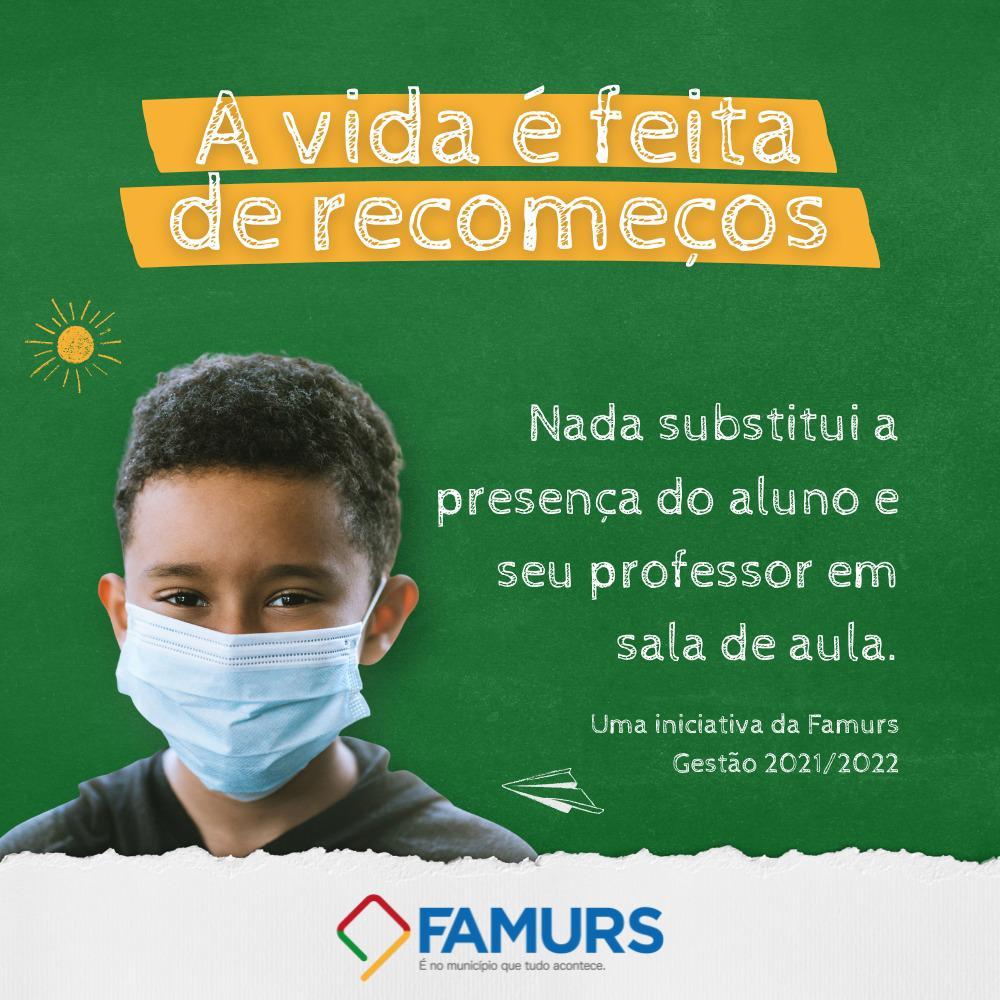 """Famurs lança campanha sobre volta às aulas: """"A vida é feita de recomeços"""""""