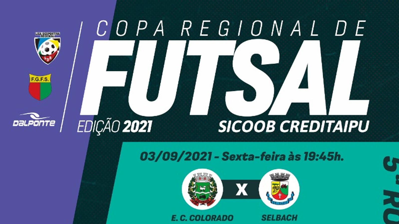 Confira os resultados e classificação após a 5ª rodada da Copa Regional de Futsal