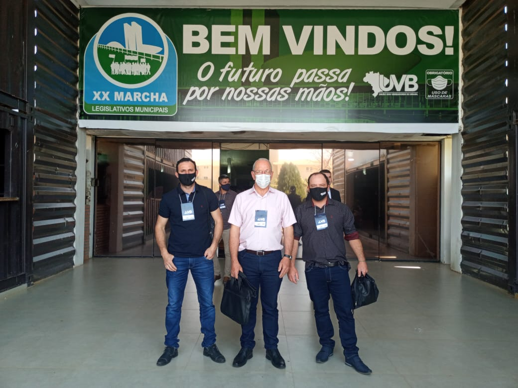Vereadores de Santo Antônio do Planalto participam da Marcha dos Vereadores em Brasília