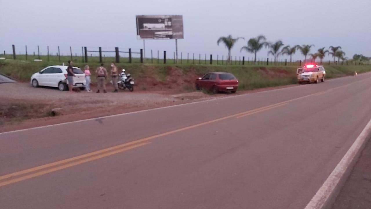 Acidente deixa duas pessoas feridas na ERS-332 entre Não-Me-Toque e Lagoa dos Três Cantos