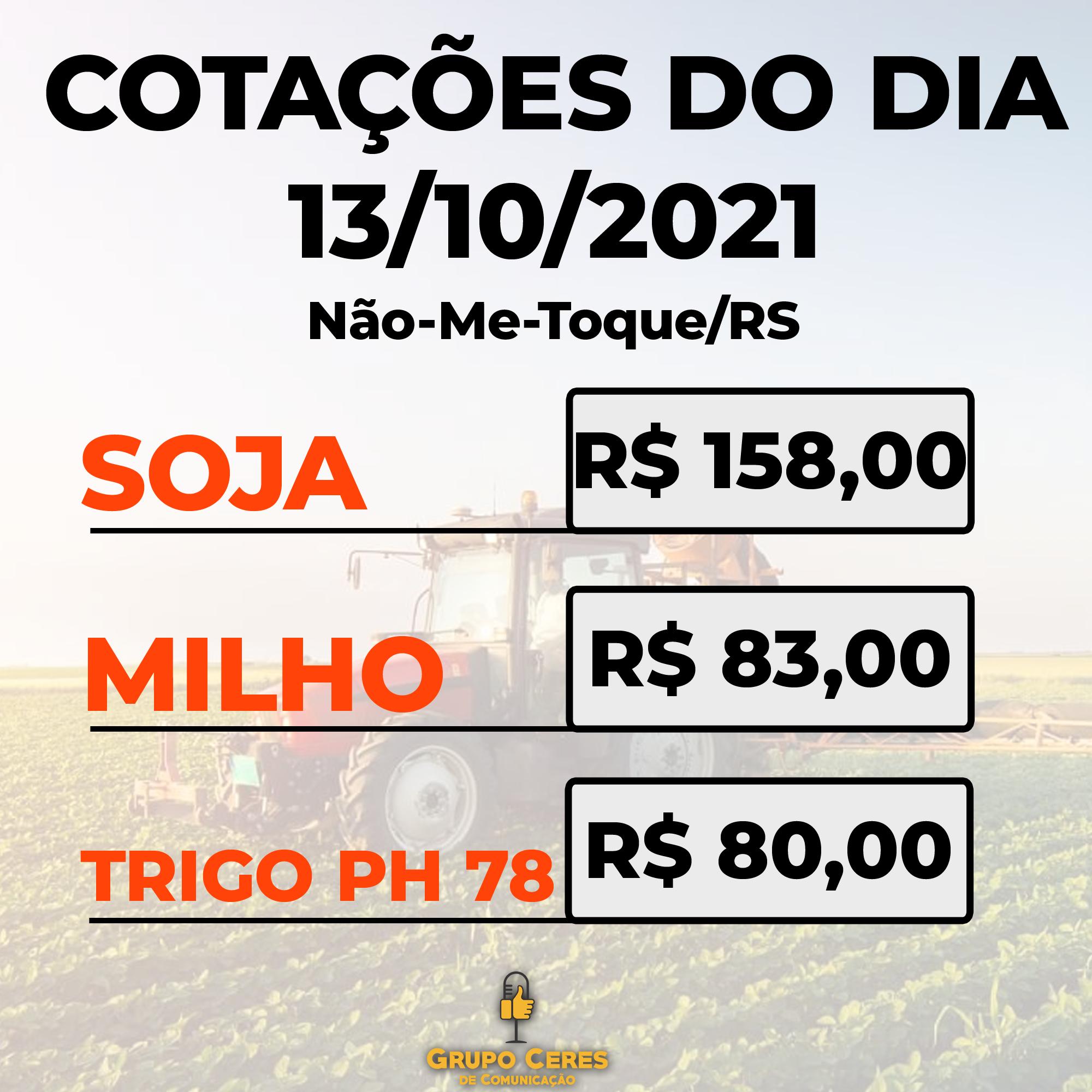 Cotações Agrícolas: 13/10/2021