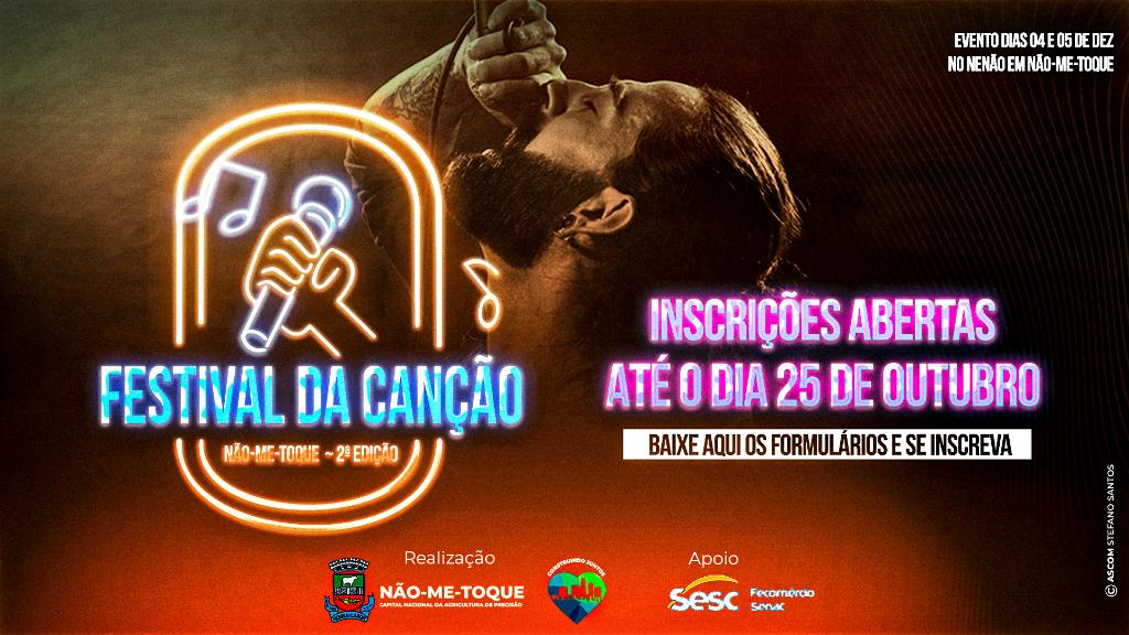 Festival da Canção em Não-Me-Toque tem inscrições abertas