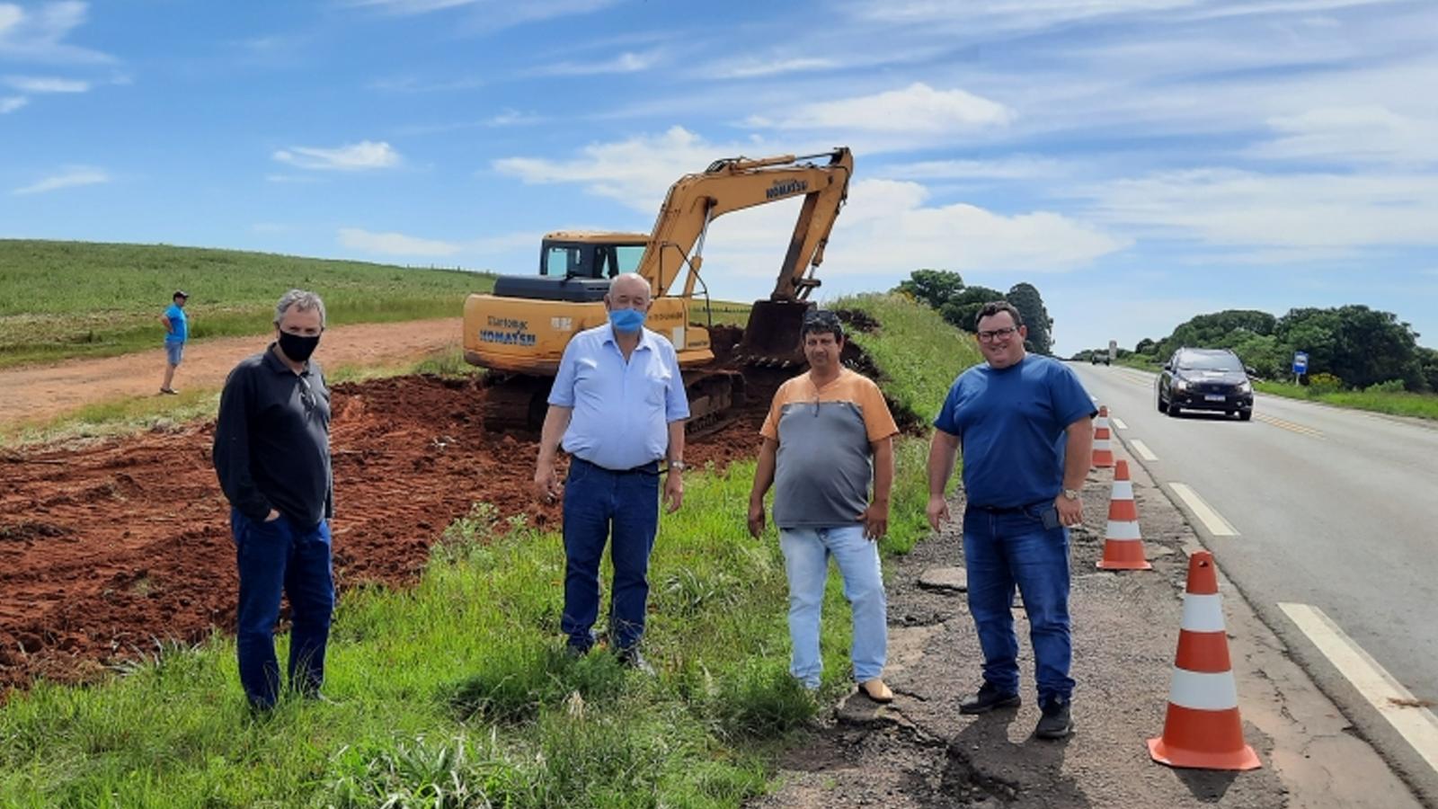 Colorado inicia obras no trevo da BR-285