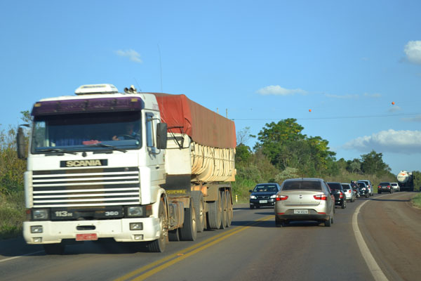 Movimento intenso nas estradas