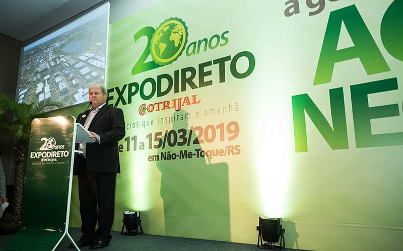 Lançamento da Expodireto Cotrijal 2019 aponta para o maior de todos os eventos em 20 anos