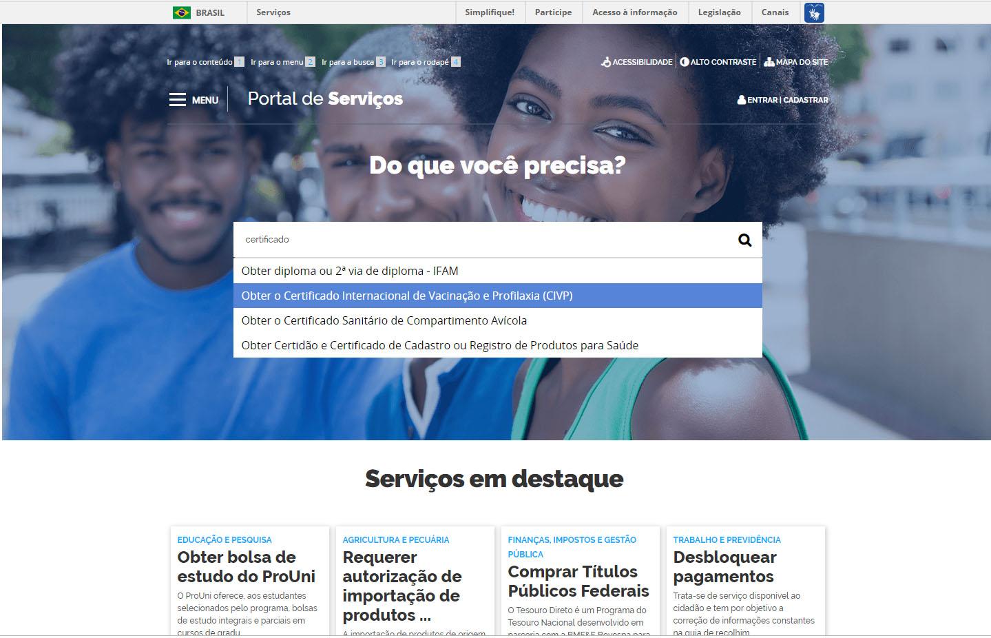 Certificado Internacional de Vacinação pode ser solicitado online