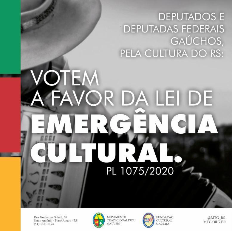 MTG se engaja na campanha pela aprovação de PL que beneficia classe artística