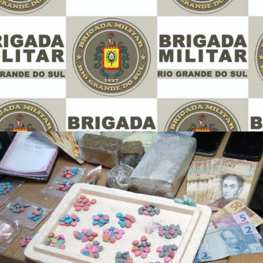 Brigada Militar faz prisões e apreende drogas durante barreira em Ernestina