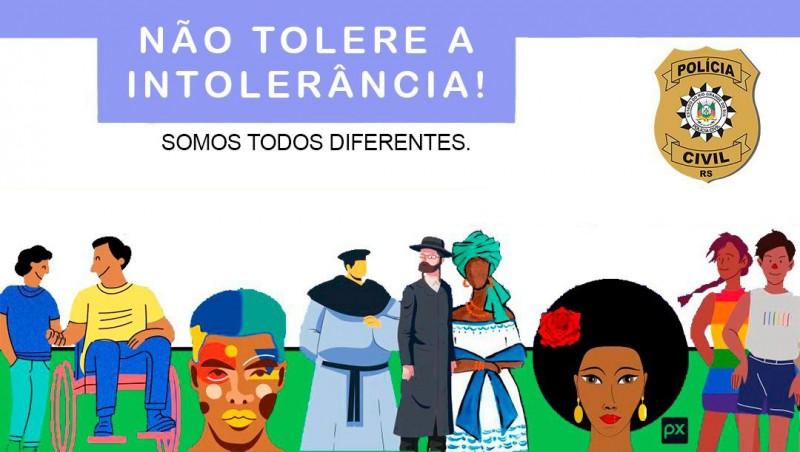 Polícia Civil lança campanha contra crimes de intolerância