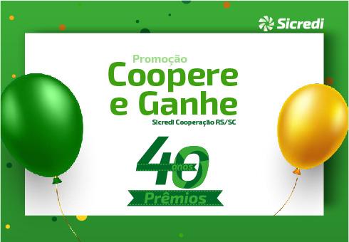 Sicredi Cooperação RS/SC realiza primeiro sorteio da Coopere e Ganhe – 40 anos, 40 prêmios