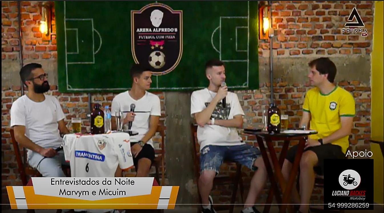 Guilherme Micuim e Marvym entrevistados da Arena Alfredo's