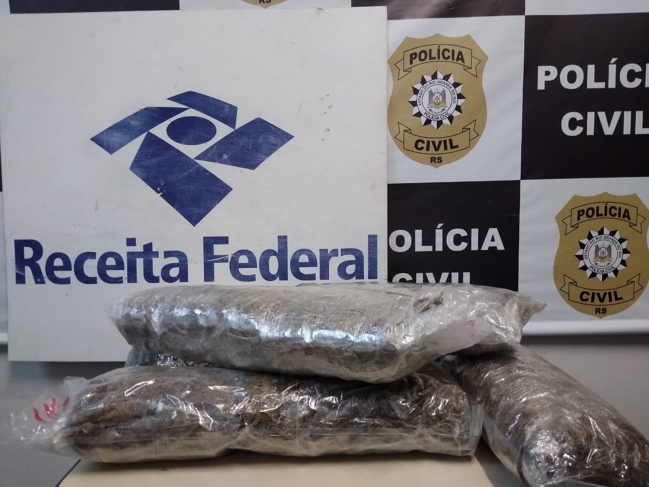 Receita Federal intercepta postagem de droga nos Correios em Pelotas