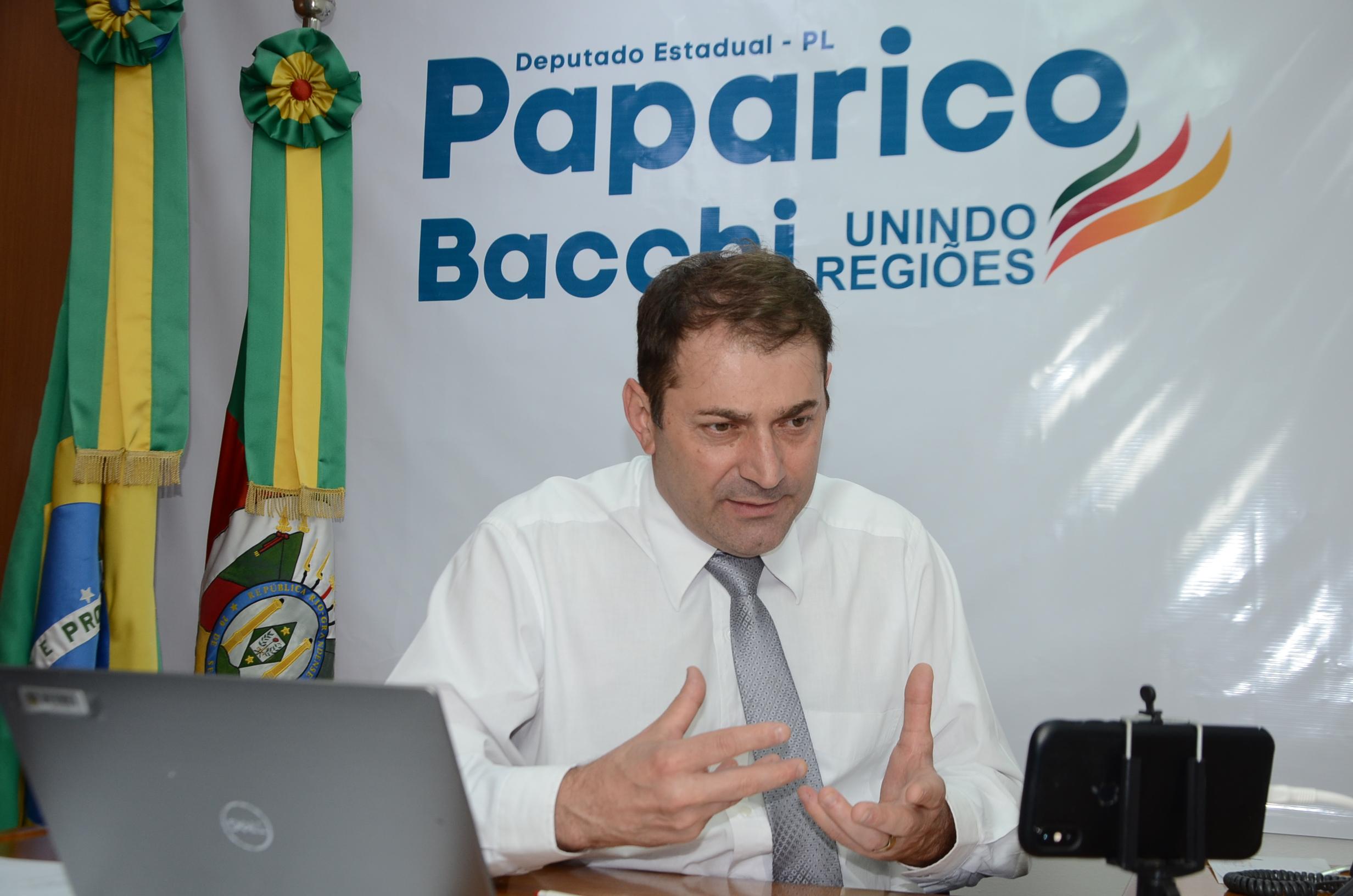 Deputado Paparico Bacchi propõe criação de cadastro estadual de voluntários no RS