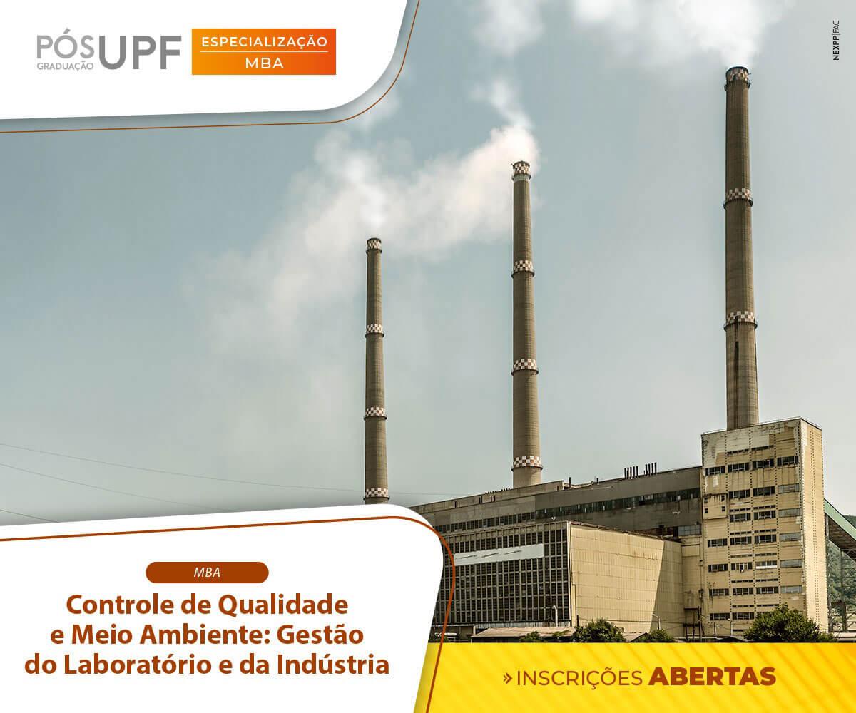 UPF: Matrículas abertas para o MBA em Controle de Qualidade e Meio Ambiente