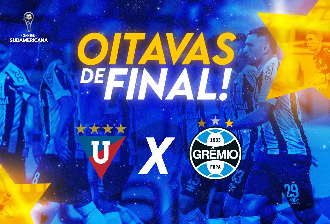 LDU do Equador será adversária do Grêmio nas oitavas da Sul-Americana