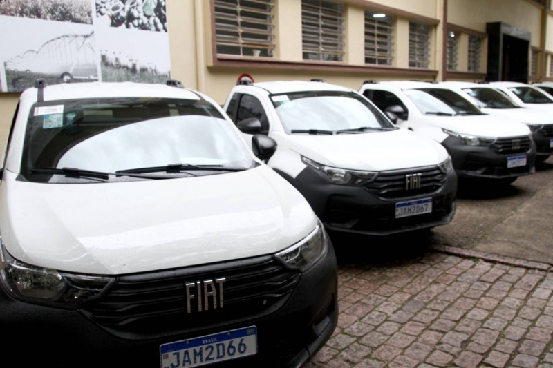 Secretaria da Agricultura entrega oito veículos para potencializar pesquisa agropecuária