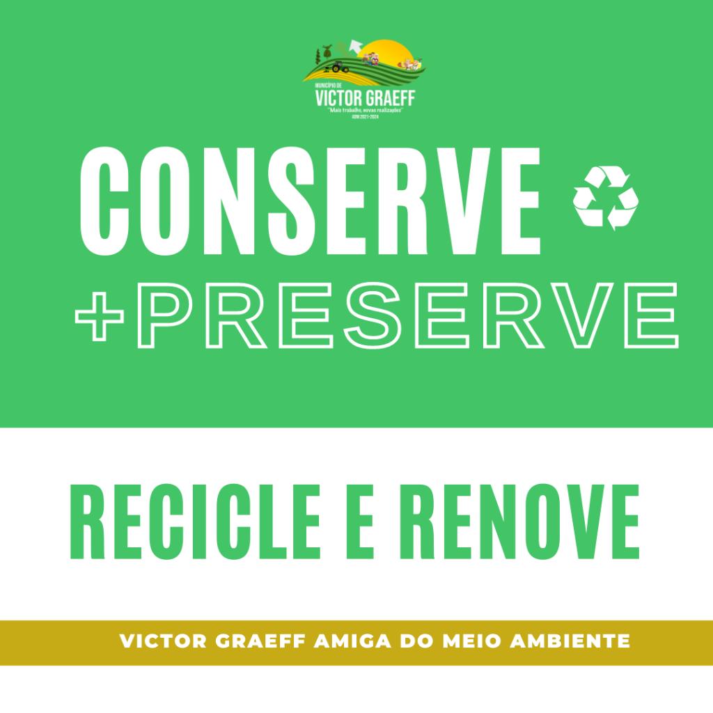 Victor Graeff: Campanha de Conscientização dos cuidados ao Meio Ambiente